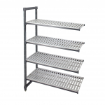"""Cambro Camshelving® Element Stationary Add-On Unit 18"""" x 48"""" x 72"""" w/4 Vented Shelves"""