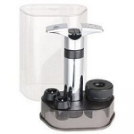 Swissmar Wine Saver Set - Black Includes Pump and Two Wine Stoppers
