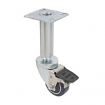 """Focus Foodservice 3"""" Casters Set w/Square Plate"""