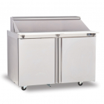 """Delfield® Salad Top 48"""" Refrigerated Prep Table w/12 Inserts"""