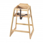 """Browne High Chair Natural Finish 27¼"""" Tall w/Safety Belt"""
