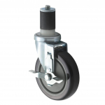 """Winco Worktable Casters 5"""" w/Brakes"""