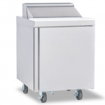 """Delfield® Salad Top 27"""" Refrigerated Prep Table w/8 Inserts"""