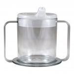 BIOS Professional® 9oz Double Handle Spill-Proof Mug Clear